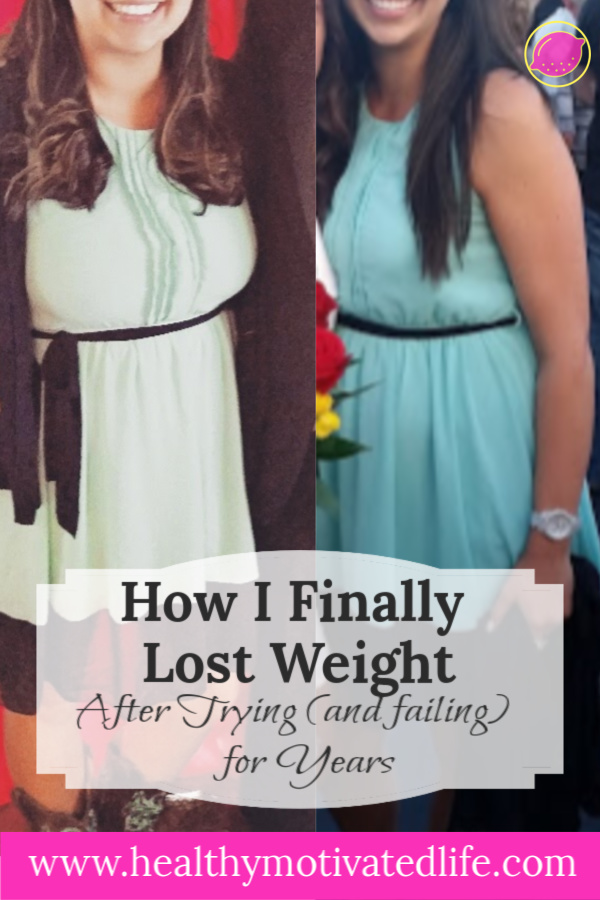 After failing miserably at weight loss for years, this is what finally did the trick for me