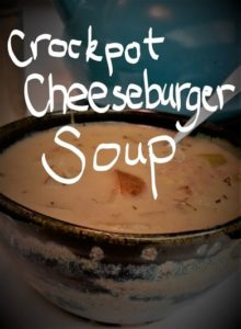Recipe for Healthy Crockpot Cheeseburger Soup
