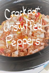 Recipe for Crockpot Unstuffed Peppers