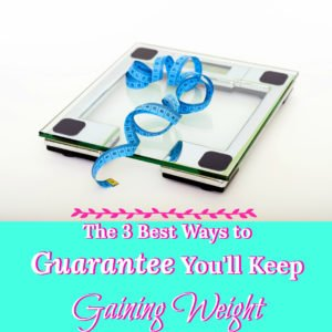 In the past, when I was unintentionally gaining weight and felt that I just couldn't stop, there were 3 behaviors that kept that pattern going.
