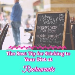 Getting healthier means you can never eat at a restaurant again.
