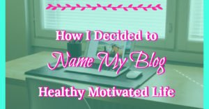 My blog has been through several different names at this point. I went from My Daily Miracle, to Amanda Stray to Healthy Motivated Life. This one is here to stay.