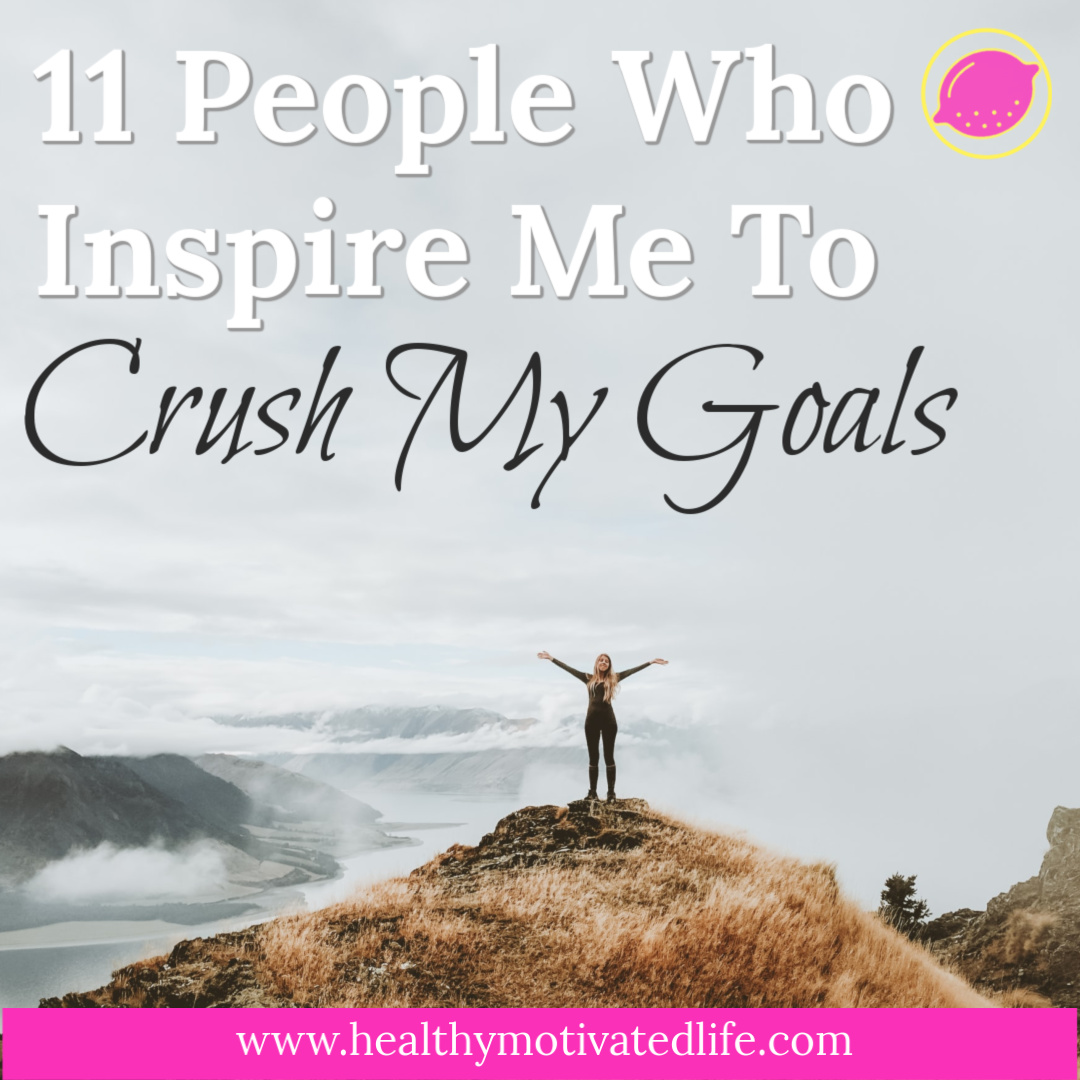 My trick to keeping motivated & inspired to work toward my goals is surrounding myself with people (and their content) who have already reached theirs. Here is a list of my favorite motivators.