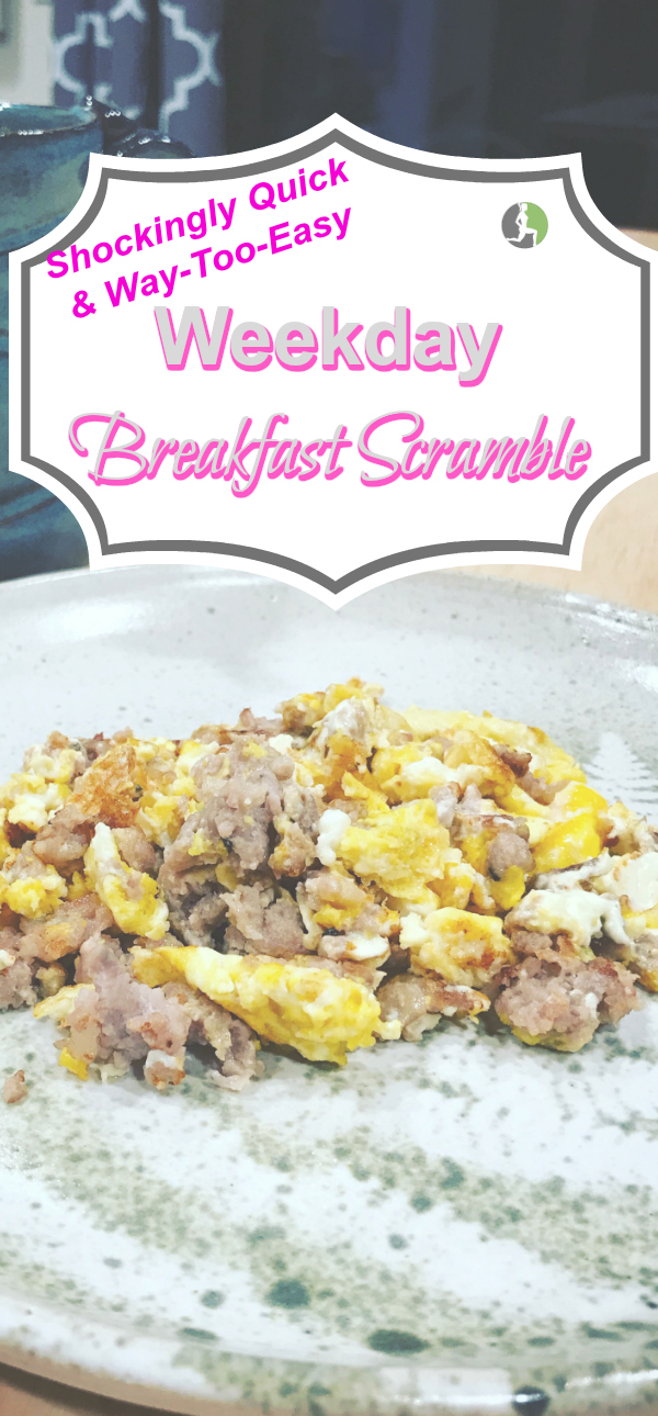 Healthy weekday breakfasts don't have to be boring. This recipe is quick & simple enough for the busiest of mornings.