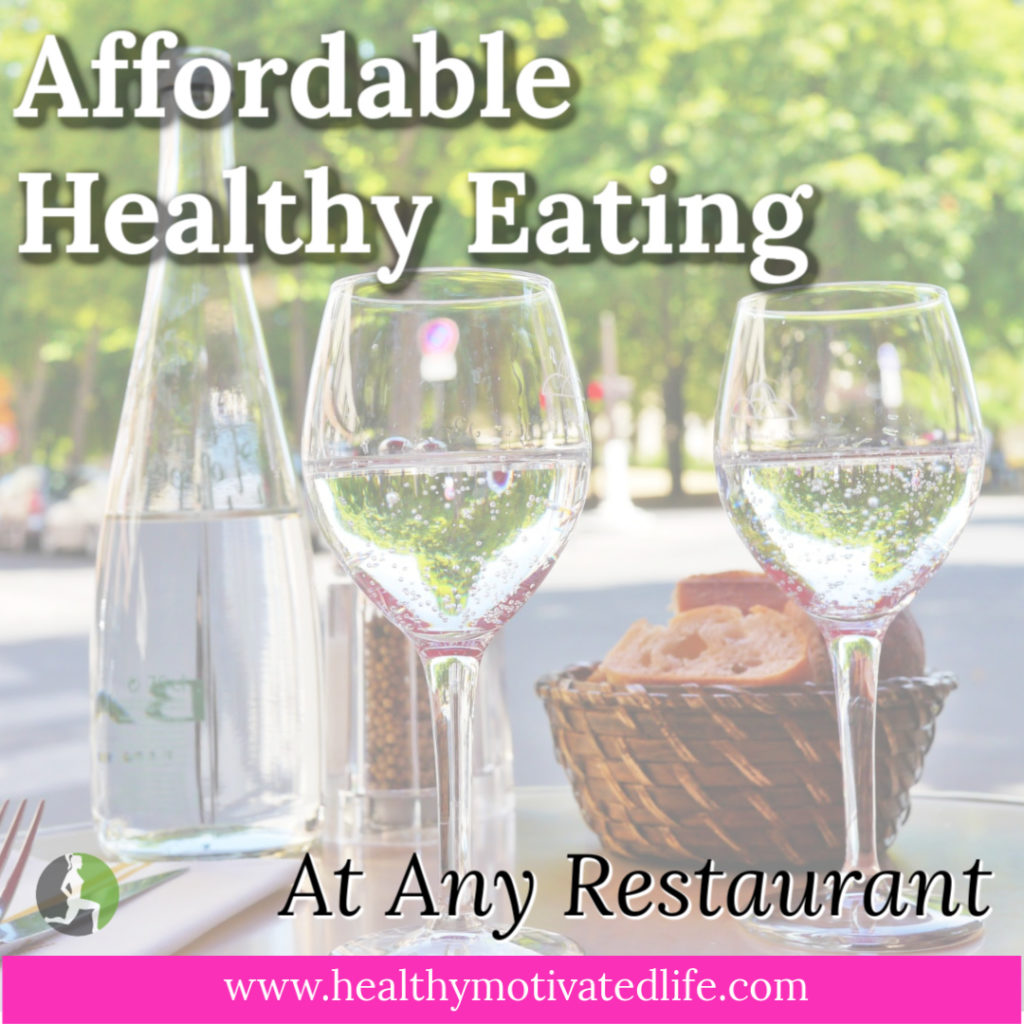 Going out for dinner while focusing on a healthy body and healthy finances can seem really daunting. It can be done, though!