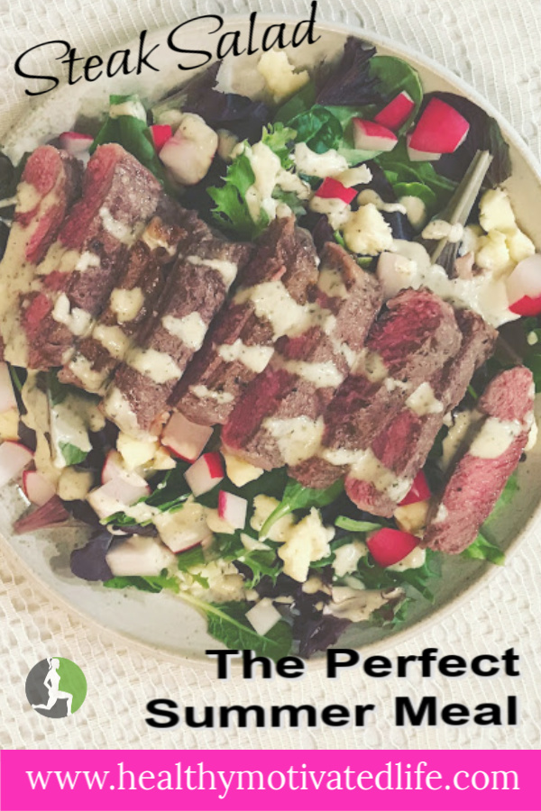 Steak Salad is a healthy meal that tastes indulgent, while coming together quickly and easily. Click here for my recipe.