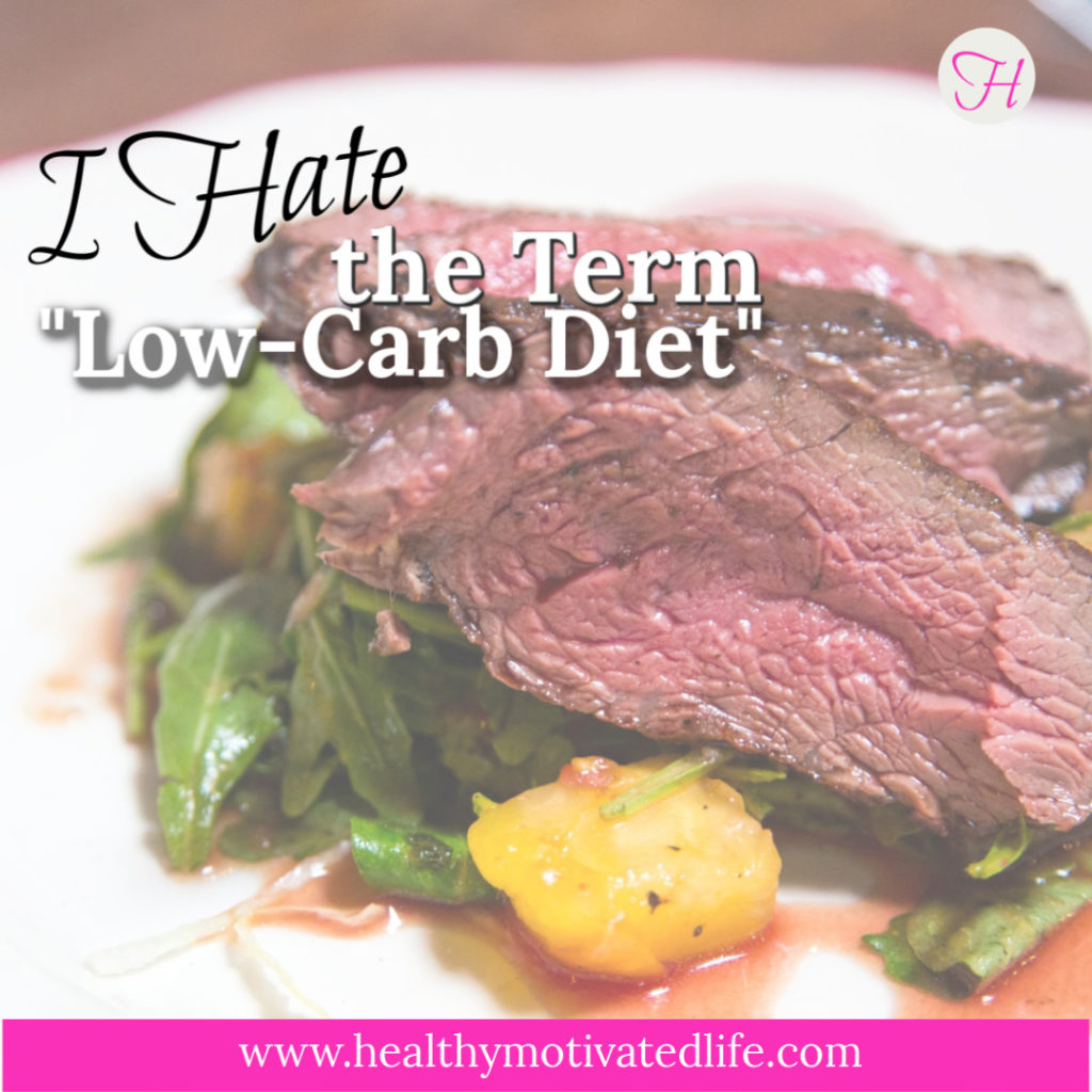 "I eat in a way that a lot of people would probably call ""low-carb,"" but carbs aren't the real enemy."